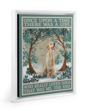 Labrador once upon a time 11x14 White Floating Framed Canvas Prints thumbnail