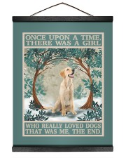 Labrador once upon a time 16x20 Black Hanging Canvas thumbnail