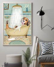 Beagle Bath 16x24 Poster lifestyle-poster-1