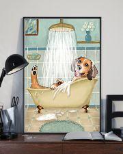 Beagle Bath 16x24 Poster lifestyle-poster-2