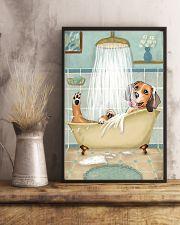 Beagle Bath 16x24 Poster lifestyle-poster-3