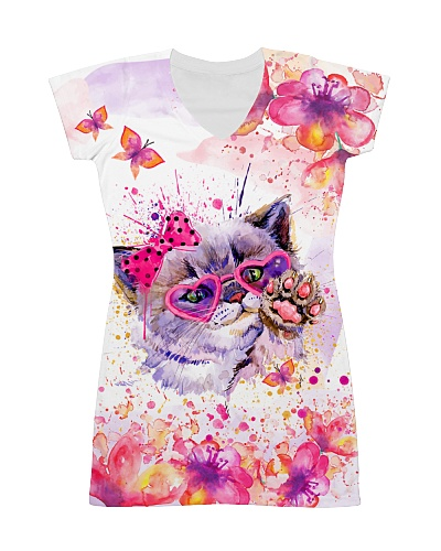 Cat and Butterfly Dress
