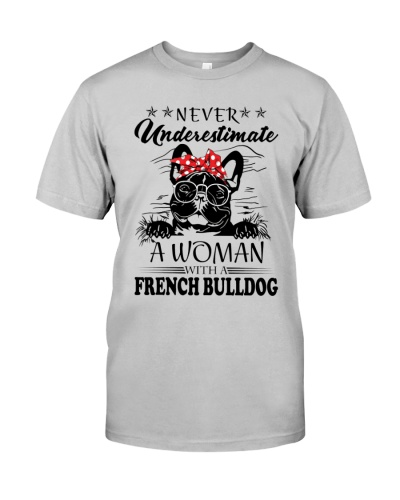 French bulldog woman