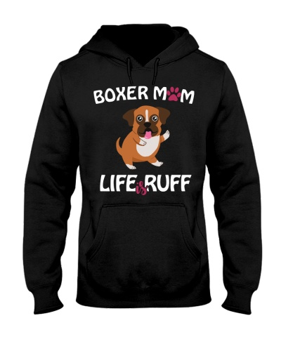 Boxer Hoodie Life Is Ruff