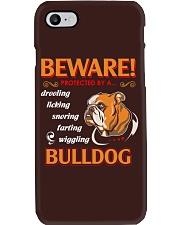 BullDog Hoodie Beware Phone Case thumbnail