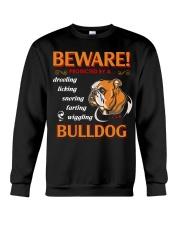 BullDog Hoodie Beware Crewneck Sweatshirt thumbnail