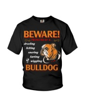 BullDog Hoodie Beware Youth T-Shirt thumbnail