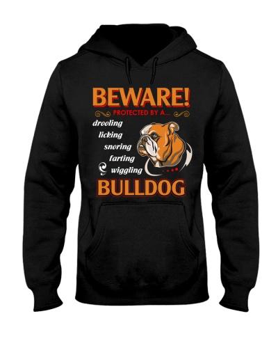 BullDog Hoodie Beware