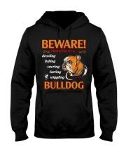 BullDog Hoodie Beware Hooded Sweatshirt front
