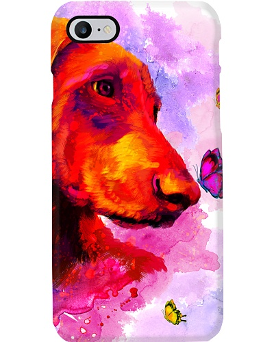 Doberman Buterfly Water Color Phone Case