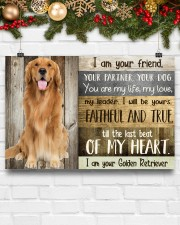 Golden Retriever my heart 36x24 Poster aos-poster-landscape-36x24-lifestyle-25