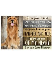Golden Retriever my heart 36x24 Poster front
