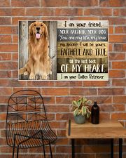 Golden Retriever my heart 36x24 Poster poster-landscape-36x24-lifestyle-20