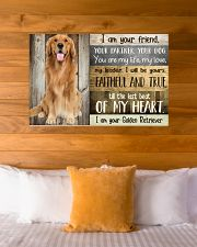Golden Retriever my heart 36x24 Poster poster-landscape-36x24-lifestyle-23