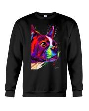 Boston Terrier Poster Water Color Crewneck Sweatshirt thumbnail