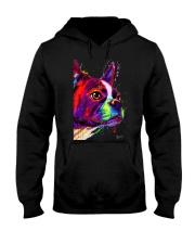 Boston Terrier Poster Water Color Hooded Sweatshirt thumbnail