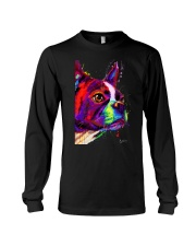 Boston Terrier Poster Water Color Long Sleeve Tee thumbnail