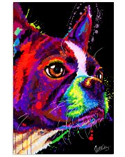 Boston Terrier Poster Water Color 24x36 Poster front
