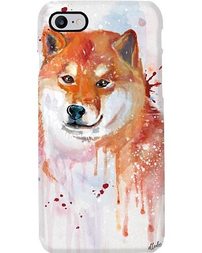 Shiba Inu Water Color Phone Case