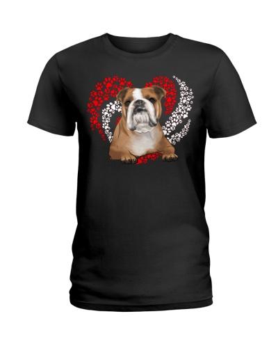 Bulldog Dog Heart