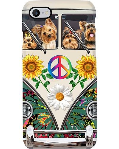 Yorkie car hippie