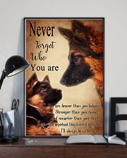 German Shepherd Nerver Forget 11x17 Poster lifestyle-poster-2
