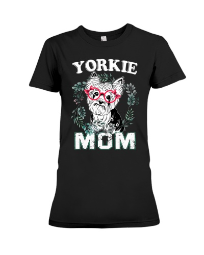 Yorkie Mom Black Shirt