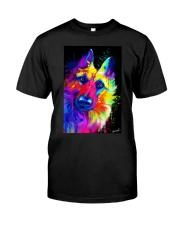 German Shepherd Water Color Art T30 Classic T-Shirt thumbnail