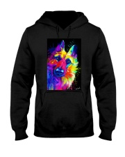 German Shepherd Water Color Art T30 Hooded Sweatshirt thumbnail