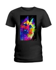 German Shepherd Water Color Art T30 Ladies T-Shirt thumbnail