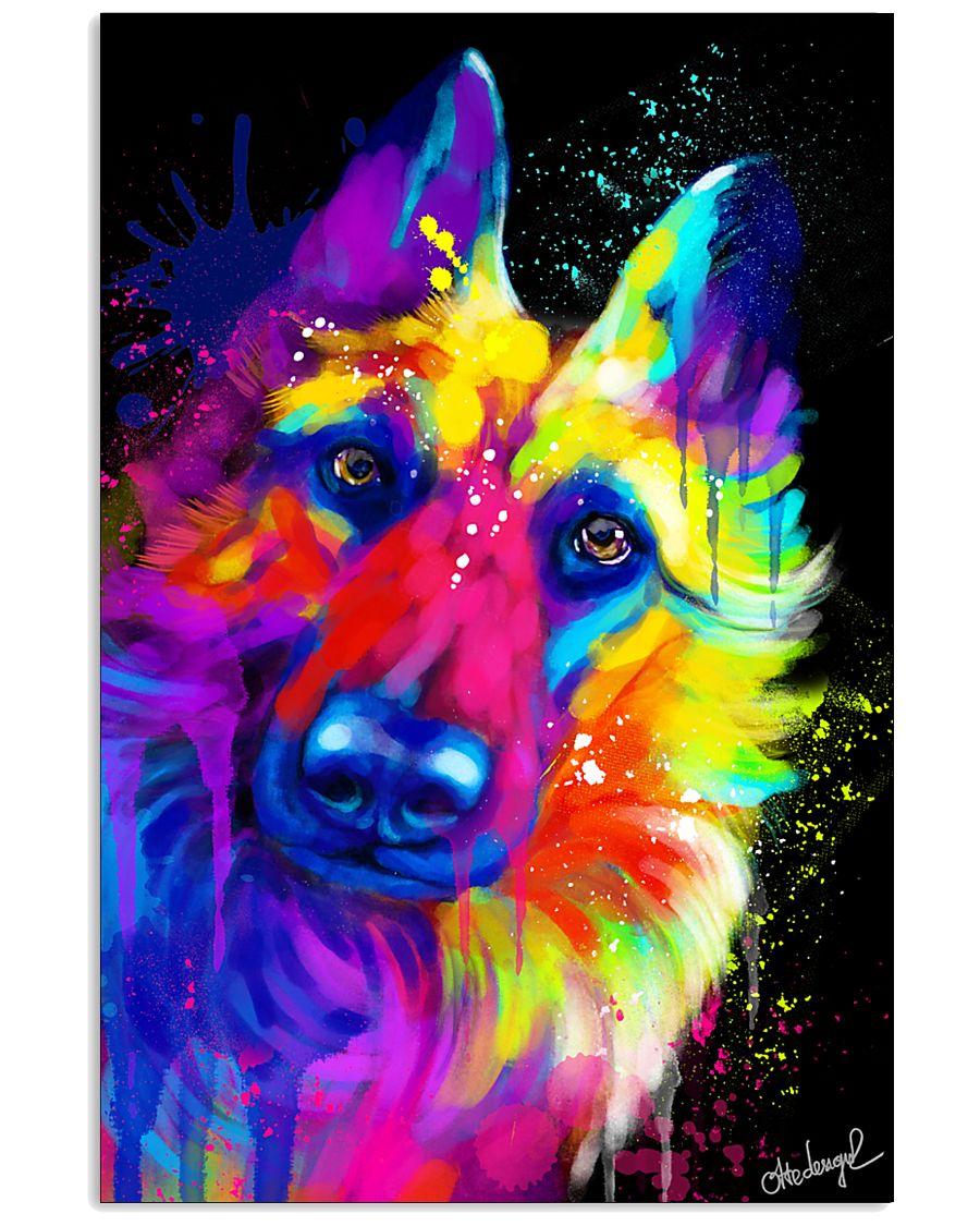 German Shepherd Water Color Art T30 11x17 Poster