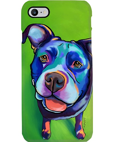 Pitbull Water Color Phone Case