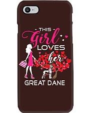 Great Dane Girl Loves Great Dane Phone Case thumbnail