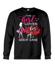 Great Dane Girl Loves Great Dane Crewneck Sweatshirt thumbnail