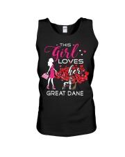 Great Dane Girl Loves Great Dane Unisex Tank thumbnail