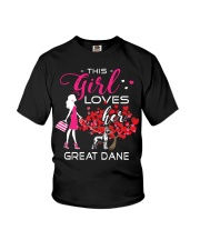Great Dane Girl Loves Great Dane Youth T-Shirt thumbnail