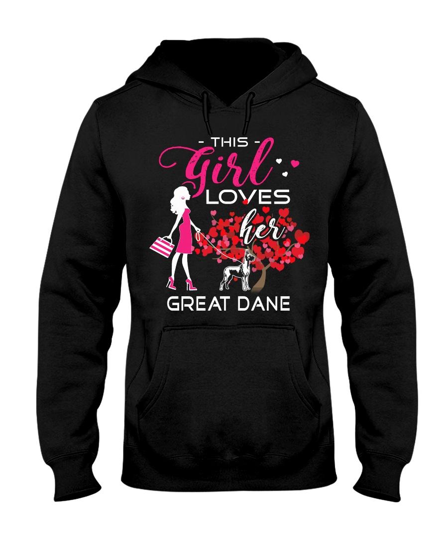 Great Dane Girl Loves Great Dane Hooded Sweatshirt