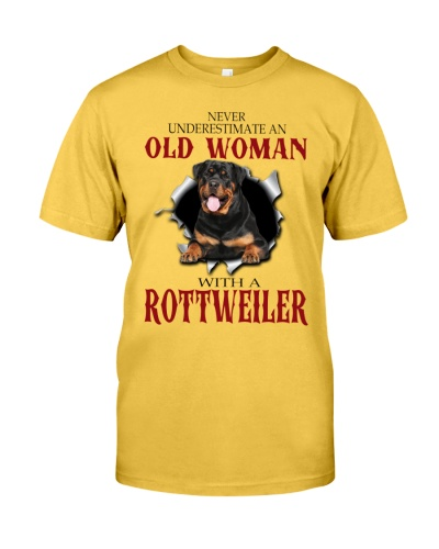Rottweiler old woman