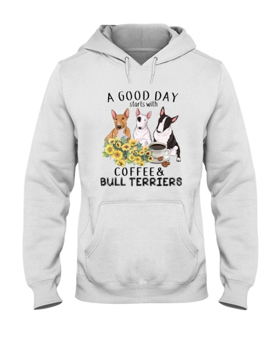 Bull terrier A good day start with coffee
