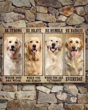 Golden Retriever be strong 36x24 Poster aos-poster-landscape-36x24-lifestyle-15