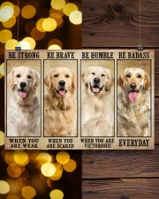 Golden Retriever be strong 36x24 Poster aos-poster-landscape-36x24-lifestyle-26