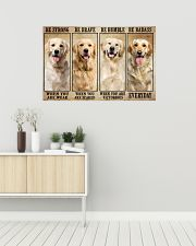 Golden Retriever be strong 36x24 Poster poster-landscape-36x24-lifestyle-01