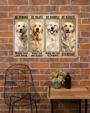 Golden Retriever be strong 36x24 Poster poster-landscape-36x24-lifestyle-20