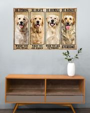 Golden Retriever be strong 36x24 Poster poster-landscape-36x24-lifestyle-21