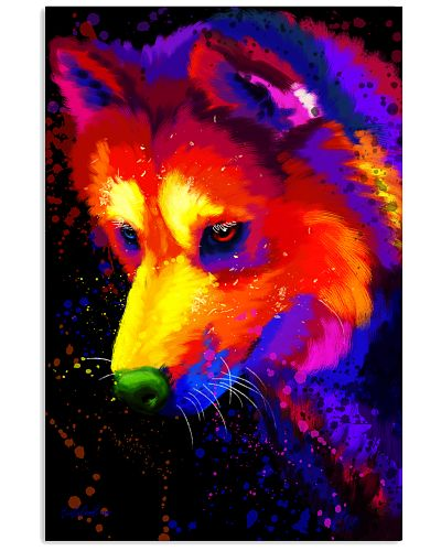 Husky Water Color