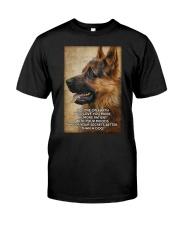 German shepherd poster Classic T-Shirt thumbnail