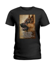German shepherd poster Ladies T-Shirt thumbnail