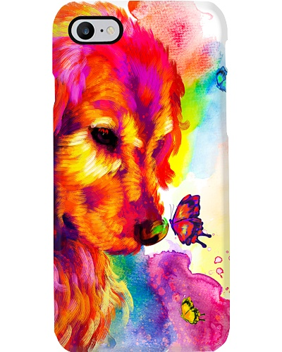 Golden Retriever Buterfly Water Color Phone Case