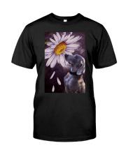 Weimaraner Flower Poster Classic T-Shirt thumbnail