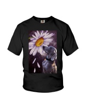 Weimaraner Flower Poster Youth T-Shirt thumbnail